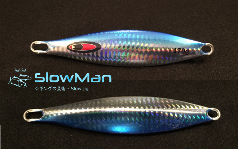 SLOWMAN - Slow jigging lure 170 grams -Blue - Click Image to Close