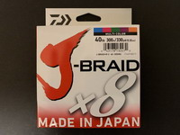 Daiwa - J-Braid X8 - (40 lb - 300M) Multi-couleur