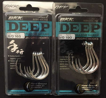 BKK DEEP Razor sharp jigging hooks #8/0