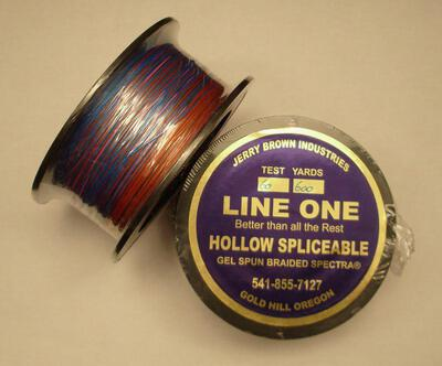 Tresse multi-couleurs Jerry Brown hollow core 60 lbs-600