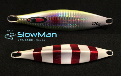 SLOWMAN - Slow jigging lure 240 grams - Red white